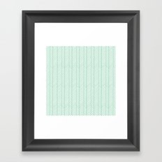 Herringbone Mint Framed Art Print
