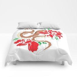 Snake N Roses Comforters