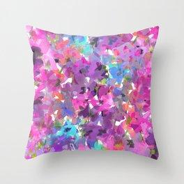 Floral Flutter Throw Pillow