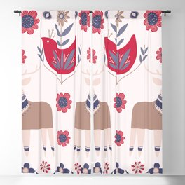 Scandinavian Winter Pattern Beige #society6 #buyart Blackout Curtain