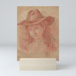 portrait of a young girl (3) Mini Art Print