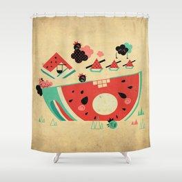 Watermelon Playground Shower Curtain