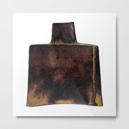 Photograph of Square Vase, Ceramic Art by Rostislav Eismont of Whipple Hill Art Collective Metal Print