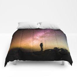 silhouette man stars Comforters