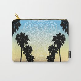 Palm Tree Sunset Mandala Carry-All Pouch