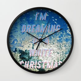 White Christmas - A Hell Songbook Edition Wall Clock