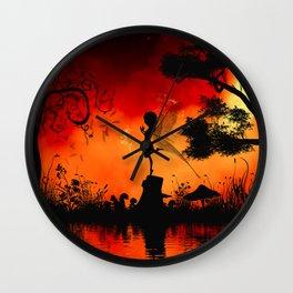 Cute little fairy Wall Clock