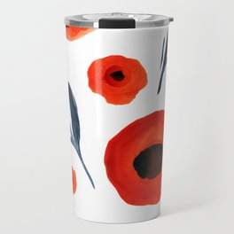 Red Poppies Specimen Travel Mug
