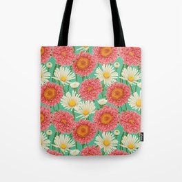 Kitschy Daisy Bouquet Tote Bag