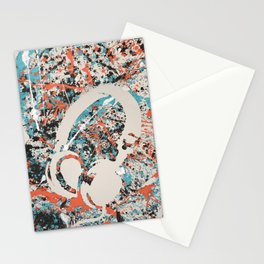 Paint Out Loud-Headphones Stationery Cards