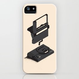 ElectroVideo MegaDrive (black) iPhone Case