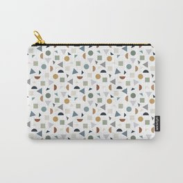 green geometric terrazzo Carry-All Pouch