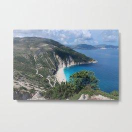 Myrtos beach, Kefalonia - Greece Metal Print