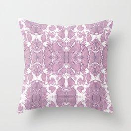 Shibori Rose Crepe De Chine Throw Pillow