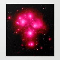 constellation Canvas Prints featuring constellation : 7 Sisters of Pleaides by 2sweet4words Designs
