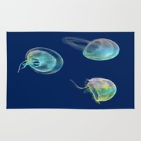 jellyfish Area & Throw Rugs featuring Jellyfish by Vitta