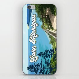 Lake Michigan Retro iPhone Skin