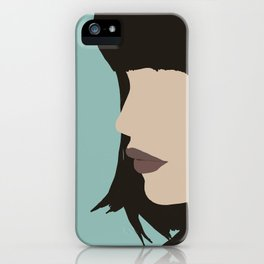 Cara - a modern, minimal abstract portrait of a woman iPhone Case