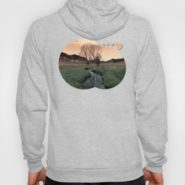 A stream, dry grass, reflections and trees II | waterscape photography Hoody