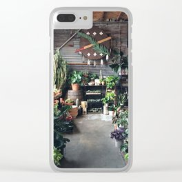 At the Plant Shoppe in Oklahoma City Clear iPhone Case