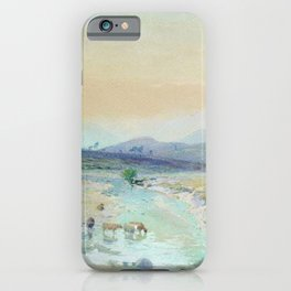 River In The Foothills 1889 By Lev Lagorio   Reproduction   Russian Romanticism Painter iPhone Case