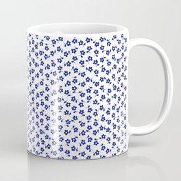 Forget Me Nots - Blue on White Coffee Mug