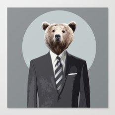 Bear Suit Canvas Print