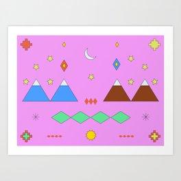 Visiting Temuco Art Print