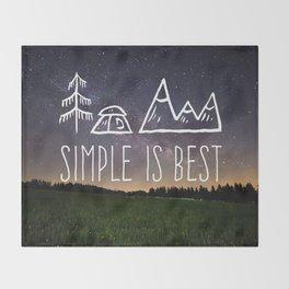 Simple Is Best Throw Blanket