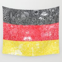 germany Wall Tapestries featuring Made In Germany by OKAINA IMAGE