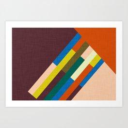 Meridian Orange #homedecor #midcenturymodern #midcentury Art Print