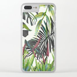 Watercolor Plants II Clear iPhone Case
