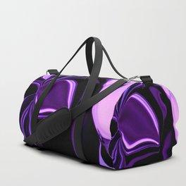 purple tropical flower abstract digital painting Duffle Bag