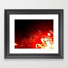 Fire Light Framed Art Print