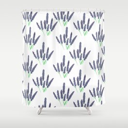 lavender pattern Shower Curtain