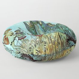 Lady of the Fey in the Water  Floor Pillow