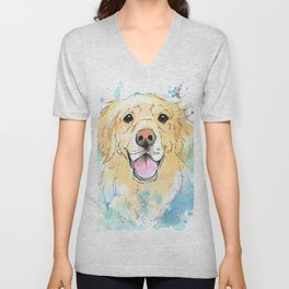 Joy of a Golden Retriever Unisex V-Neck