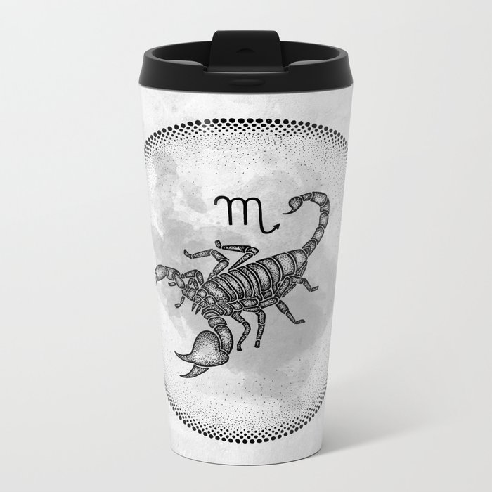 Scorpio Metal Travel Mug