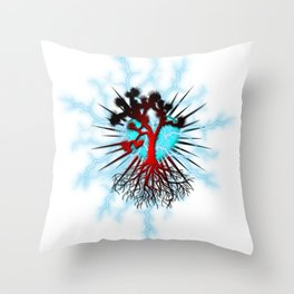 Joshua Tree Heart Light by CREYES Throw Pillow