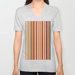 Old Skool Stripes - Morning - Extra Wide Unisex V-Neck