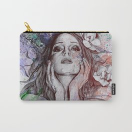 The Withering Spring: Wine (nude tattooed girl with flowers) Carry-All Pouch
