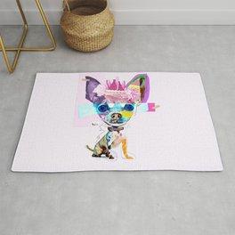Colorful Dog Art Chihuahua Rug