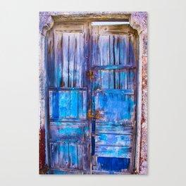 Old Door,Santorini Canvas Print