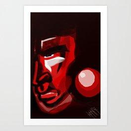 Argh. In Red. Art Print