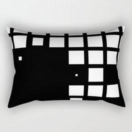 Black and white minimal squares Rectangular Pillow
