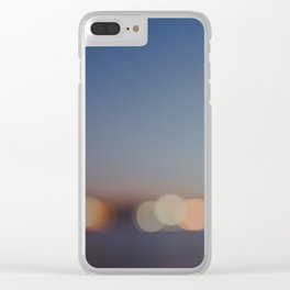 Circles of Light Clear iPhone Case