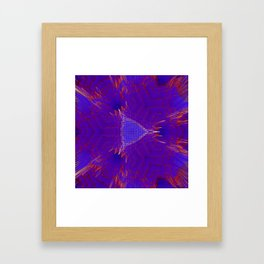 Red and blue abstract digital background Framed Art Print