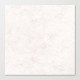 Elegant vintage ivory white stylish marble Canvas Print