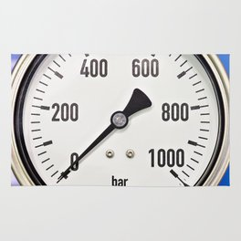 Industrial analog manometer Rug