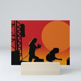 Axl And Slash Mini Art Print